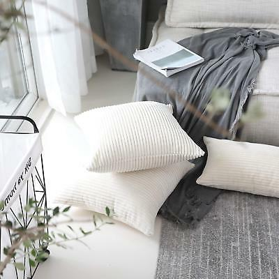 HOME Soft Plush Corduroy Textured Large Euro Pillow