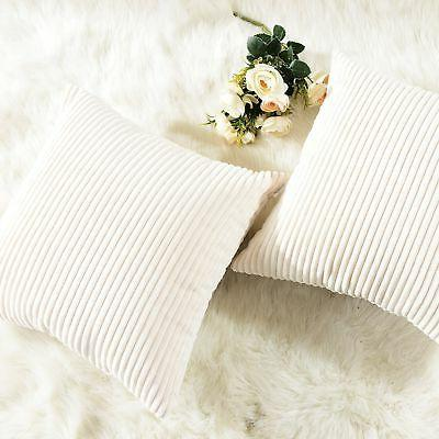 HOME Super Plush Corduroy Solid Textured Large Throw Pillow