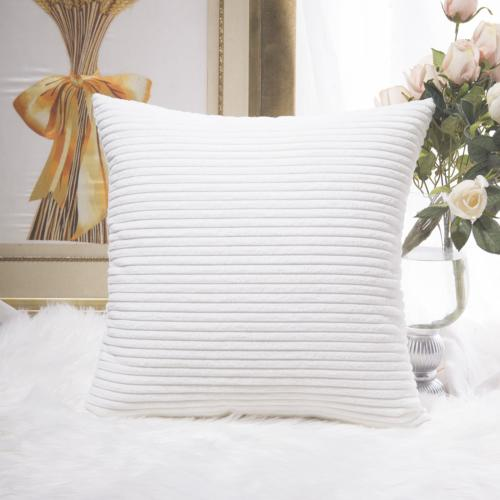 HOME BRILLIANT Super Soft Striped Corduroy Velvet Decorative