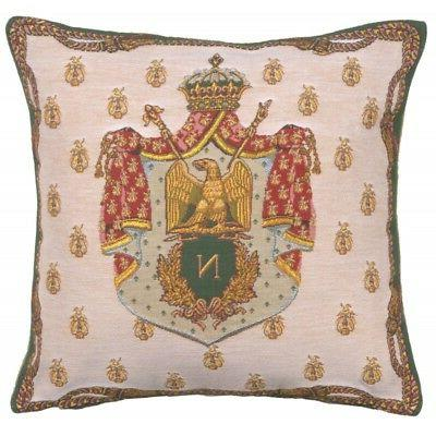 Tapestry Throw 18x18 Crest of Woven