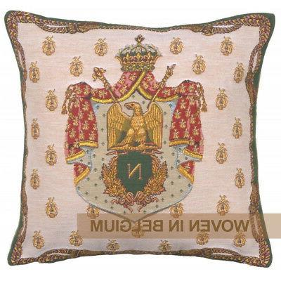 tapestry throw pillow cover 18x18 napoleon crest