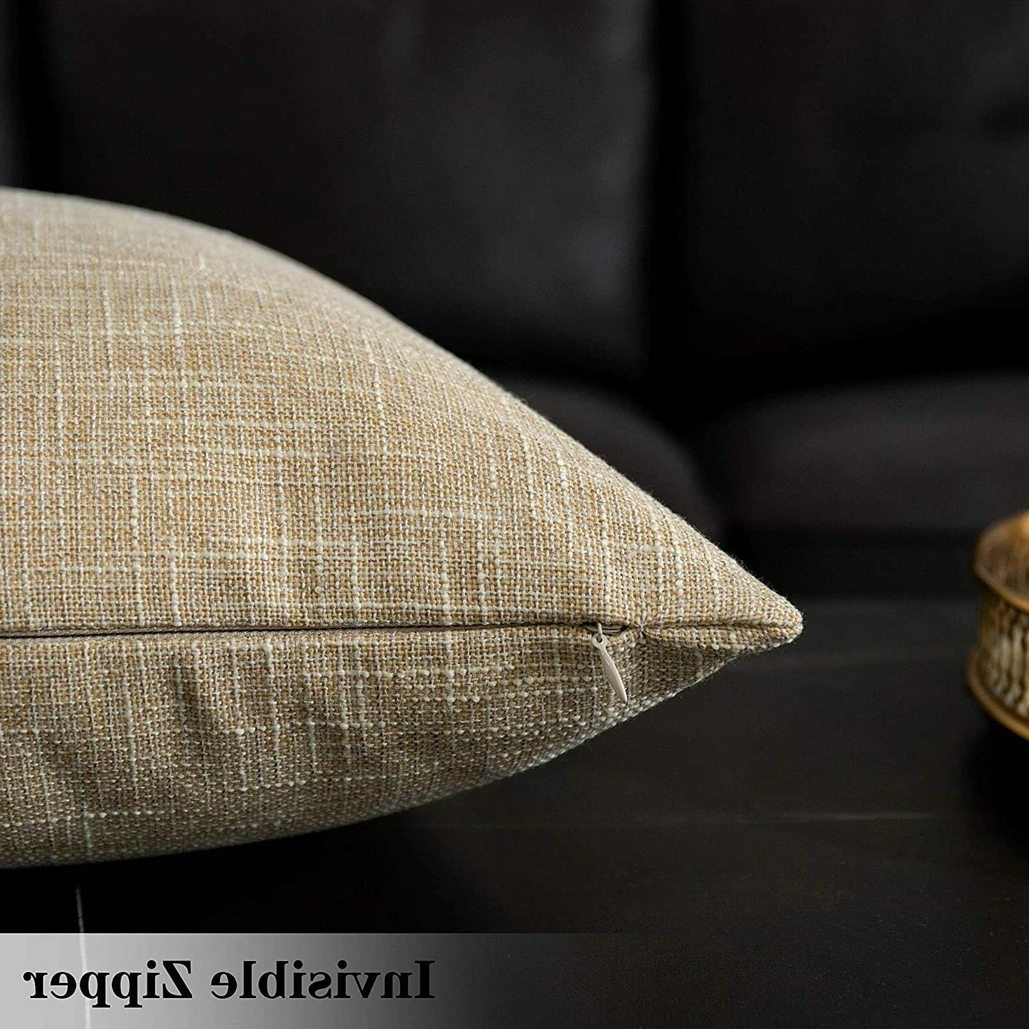 Kevin Textile Faux Linen Cushion Covers for Couch