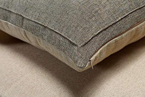 Jepeak Burlap Linen Throw Pillow Case Pillowcase, Thick, Luxury, Handmade with Sofa Couch