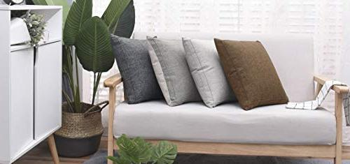 Jepeak Pillow Case Cover Farmhouse Decorative Pillowcase, with Sofa Couch