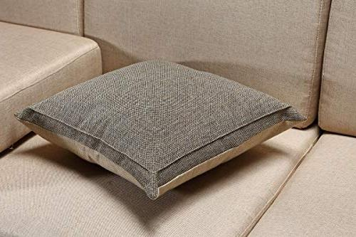 Jepeak Pillow Cushion Cover Farmhouse Decorative Solid Square Pillowcase, with for Sofa