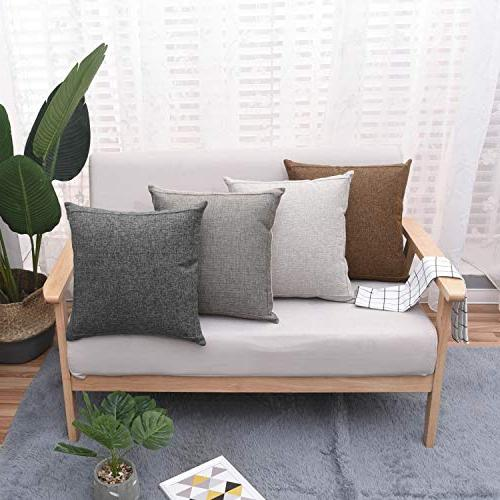Pillow Case Farmhouse Decorative Solid Pillowcase, Thick, Luxury, with Zipper Sofa Bed