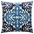 NEW Throw Pillow Cover Embroidered Indoor Outdoor Patio Squa