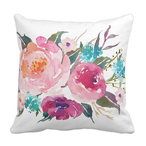 throw pillow cover flowers floral