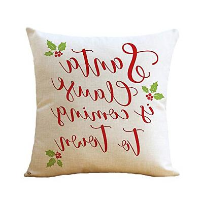 WOMHOPE Throw Pillow Cases Merry Truck Tree