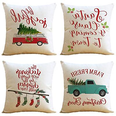 throw pillow covers cases merry christmas red