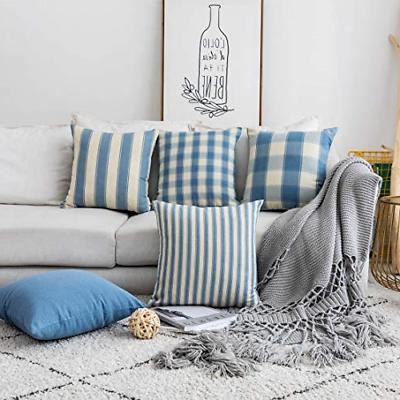 throw pillow covers decorative striped checker solid