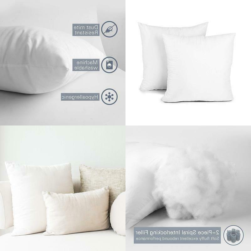 throw pillow inserts set of 2 hypoallergenic