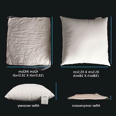 Edow Pillow Inserts,Set of 4 Hypoallergenic Down Alternative