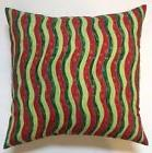 Throw Pillow Sham/Cover for 18x18 Insert CHRISTMAS Wavy Line