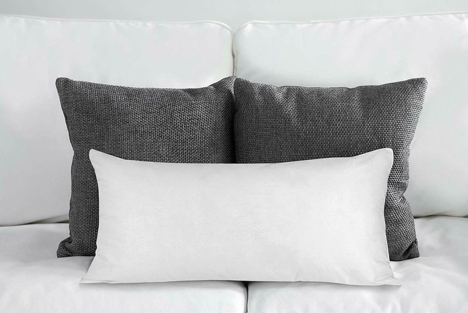 Decorative Pillows Insert of 2 Couch Pillows