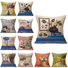 Trench Linen Flower Cushion Cover Throw Pillow Case Sofa Hom