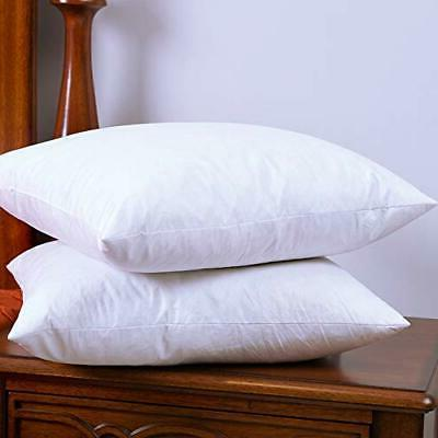 DOWNIGHT Two Pillow Inserts, 20 20 Down Feather Throw Pillow Insert,