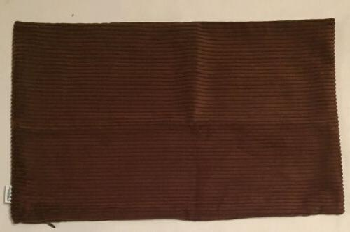 "CaliTime Soft Striped Set 12""x24"" Brown"