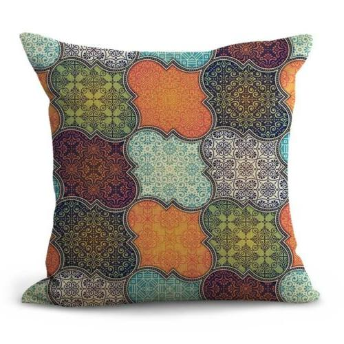 US SELLER - cotton throw pillow covers retro mandala patchwo
