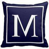 DECORLUTION ustomize monogram on navy blue pillow Personaliz