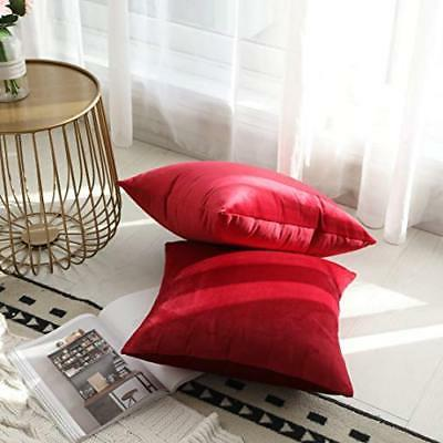 Kevin Textile Velvet Soft Soild Decorative Throw Pillow Covers