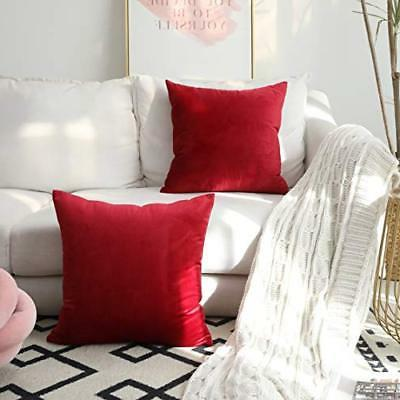 Kevin Textile Velvet Soild Decorative Square Throw Pillow