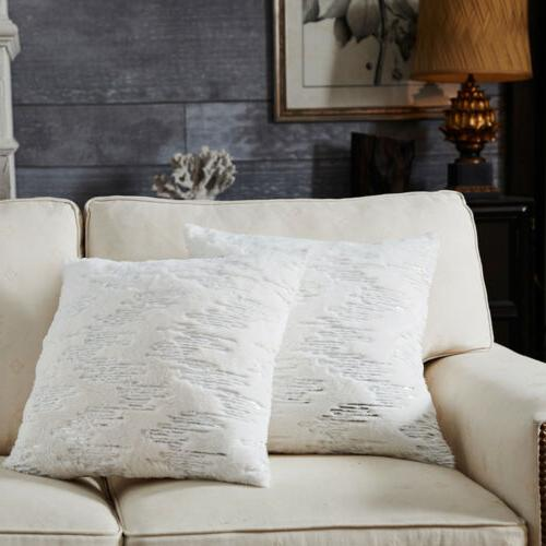 soft plush faux fur throw pillow case