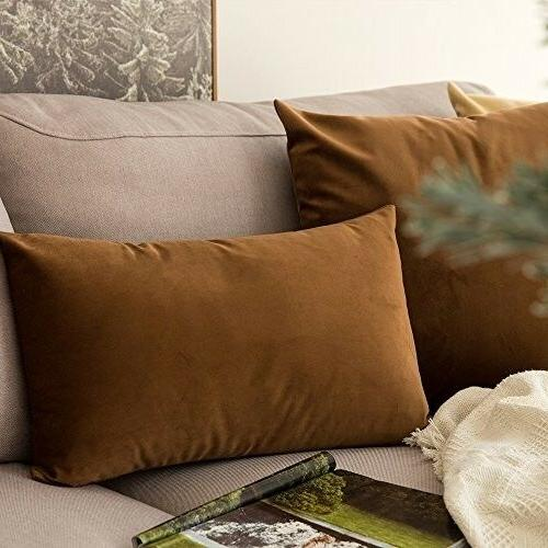 MIULEE Velvet Decorative Pillow Covers Cushion for
