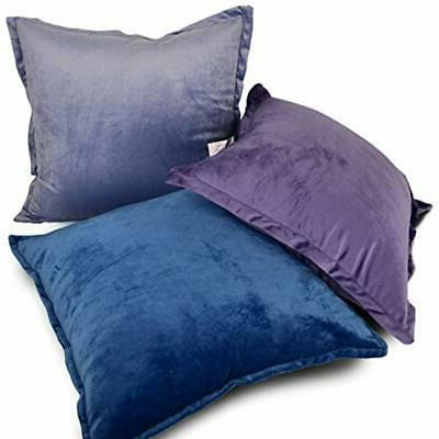 Velvet Pillows , Soft Down Alternative Polyester