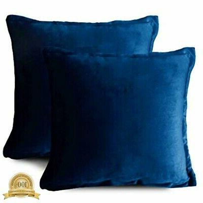 velvet throw pillows set of 2 soft