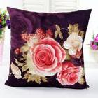 "New Victorian Rose Throw Pillow wine Pink Cream velvet 18"" s"