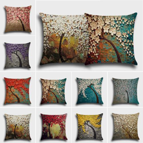 "18""X18'' Trees Printed Throw Pillow Case Cushion Covers Home"