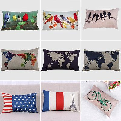 Standard Pillow Rectangular Waist Covers Sofa Decoration