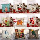 "18"" Vintage Linen Cotton Throw Pillow Case Cushion Cover Hom"