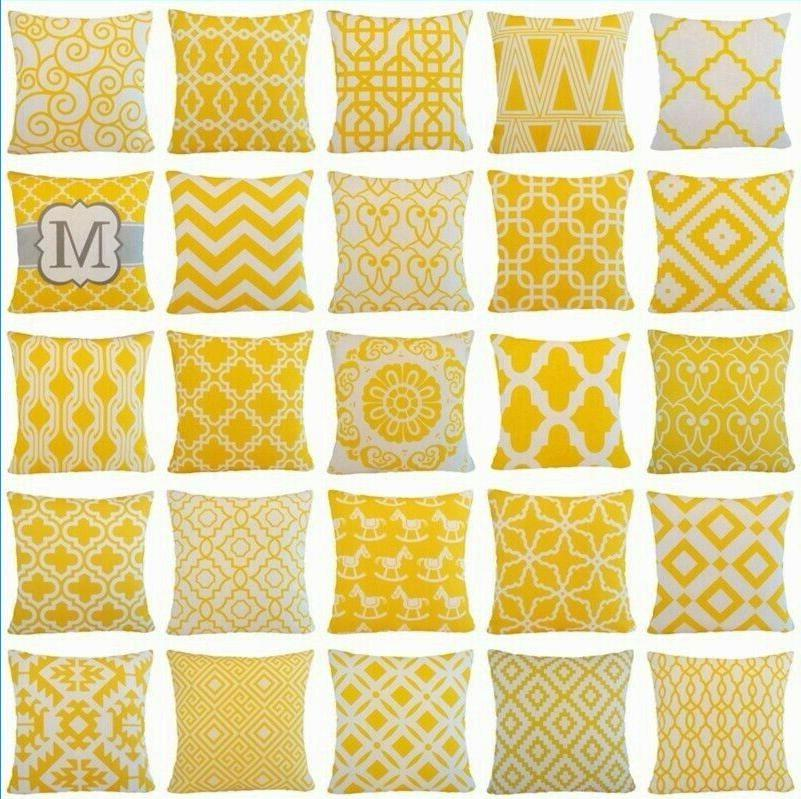 yellow home decor throw pillow cover couch