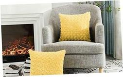 LANANAS Luxury Soft Plush Faux Fur Throw Pillow Covers for C