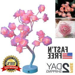 LED Rose Table Lamp Accessories Gifts For Teen Girls Room Be
