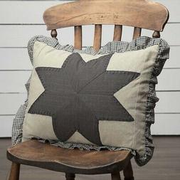 LIBERTY STARS PATCHWORK Throw Pillow Primitive Americana Gre