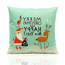 ME COO Light green Christmas Moose Santa Claus graphic print