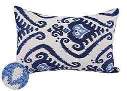 Deconovo Embroidered Pillow Covers Oblong Floral Pattern Thr