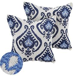 Deconovo Linen Embroidered Vintage Floral Cushion Covers Thr