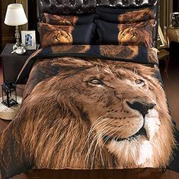 Babycare Pro Lion Print 3D Bedding Sets with Comforter King
