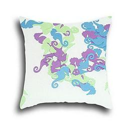 Elec Radio Little Seahorse Simple Cushion Pillow Cover Cases
