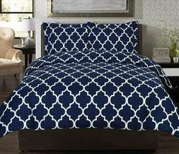 Utopia Bedding Luxurious 3 Piece Printed Duvet Cover Set wit