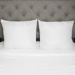 """2 Pack Luxurious 26"""" x 26"""" Square Euro Pillow Insert Down Al"""