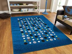 New Fashion Luxury Blue Floor Rugs for Living Room Large 8x1