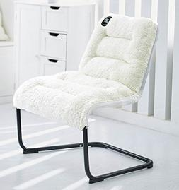 Zenree Comfortable Padded Folding Chair Vanity Accent Lounge