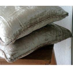 Luxury Pearl Pillows Cover, Solid Color Beaded Cord Pillows