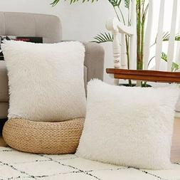 NordECO HOME Luxury Soft Faux Fur Fleece Cushion Cover Pillo