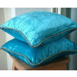 16x16 Pillow Covers Blue, Turquoise Blue Pillow Case, Solid